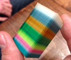 An item printed with the Spectrom device. It's also capable of more gradual transitions between colors. Photo courtesy of Spectrom.