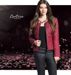 Zip-up jacket and jeans.  #fallfashion #musthave #Cartise #women #apparel #coloryourlife www.cartise.ca