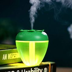 Coper Version Essential Oil Diffuser,USB Strawberry Home Aroma LED Humidifier,Changing Mist Air Purifier for Home Office Baby Car (Green) Car Office, Cute Strawberry, Air Humidifier, Led Night Light, Air Purifier, Essential Oil Diffuser, Aromatherapy, Mists, Health And Beauty