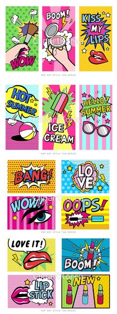 Pop Art Design Graphic New Ideas Design Pop Art, Graphisches Design, Design Shop, Menue Design, Tableau Pop Art, Wow Art, Grafik Design, Art Plastique, Graphic Design Inspiration