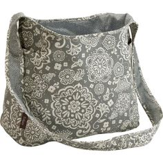 Woodblock Floral and Grey Pin Dots inside out bag.  Gives you to totes in one