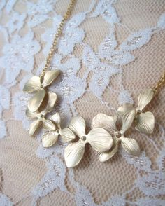 Orchid Necklace by ClementinesJewelry on Etsy, $18.00