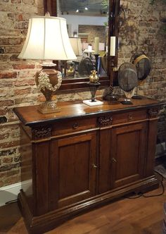Add old-world charm to your home with this Italian walnut cabinet, hand-finished in Florence, Italy.   http://www.reidsfurnishings.com/contactus.html