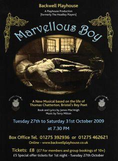 Marvellous Boy Poster - October 2009