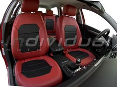 LEATHER LOOK red + LEATHER LOOK black Chevy, Cars And Motorcycles, Red Leather, Car Seats, Shopping, Vehicles, Collection, Black, Note