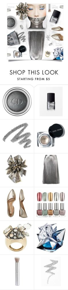 """""""Silver"""" by greengoblinz ❤ liked on Polyvore featuring beauty, Christian Dior, NARS Cosmetics, Yves Saint Laurent, Alexis Bittar, Witchery, Bzees, Lanvin, Thierry Mugler and rms beauty"""