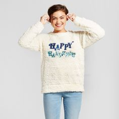 Women's Hanukkah Woobie - Xhilaration (Juniors') Cream (Ivory) Xxl