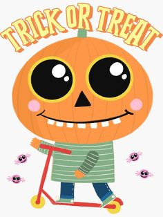 """""""Trick or Treat"""" Sticker by equilibrum08 