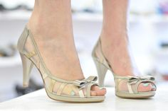 We think these are a perfect mother of the bride shoes. By Banfi.