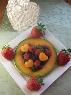 Sweet Heart Breakfast:) fruit