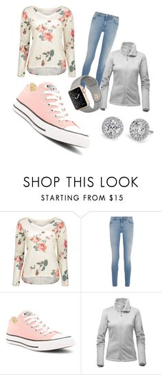 """""""Flower shirt"""" by amberlyng ❤ liked on Polyvore featuring Givenchy, Converse and The North Face"""