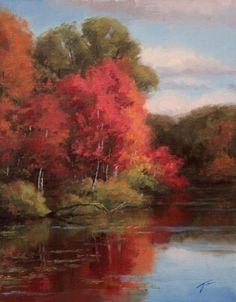 Study for Red Reflections, painting by artist Jason Tako