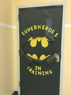 New Ideas Classroom Door Decorations Superhero Superhero Classroom Door, Halloween Classroom Door, Halloween Door Decorations, Classroom Board, Superhero Door Decorations Teachers, Birthday Door Decorations, Superhero Bulletin Boards, School Door Decorations, School Classroom