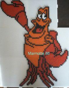 Sebastian Little Mermaid hama beads by marmotte88130