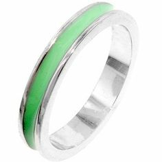 Enamel Channel Ring in Teal AccessoryRow. $17.00