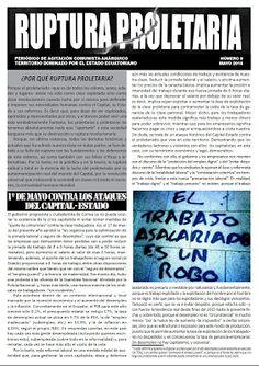Ecuador: RUPTURA PROLETARIA, periódico de agitación comunista-anárquico, #0, mayo 2016