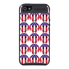 *NEW* Red White & Blue Smiley Face iPhone 5 Cases - April Deals Bring You Steals - Up To 50% Off! Ends SOON! Use ZAPRILSTEALS at checkout  http://www.zazzle.com/godsblossom*  #patriot #americanflag #smileyface #iphonecases #customephonecases