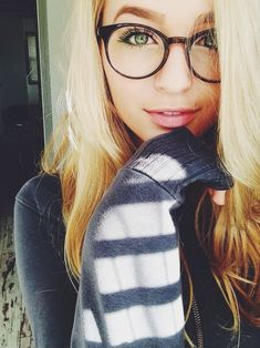 girl with brown hair and glasses - Google Search