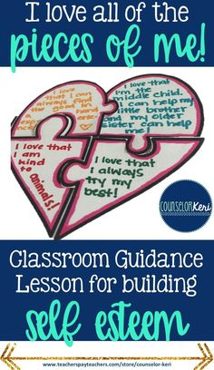 elementary school counseling classroom guidance lesson for building self-esteem - Counselor Keri