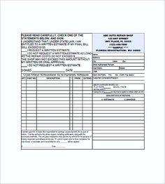 auto repair invoice form , Auto Repair Invoice Template , Auto Repair Invoice Template: Easy And Quick To Use Auto repair invoice template is a kind of free blank auto repair invoice forms which allow you to...