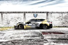 "Porsche Panamera ""camouflage"" car wrap style by Wrapp-Fol Design"