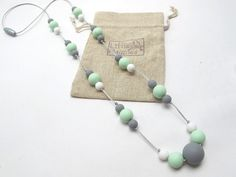 Mint & Grey 'Ophelia' Silicone Teething and by TheLittleMagpies