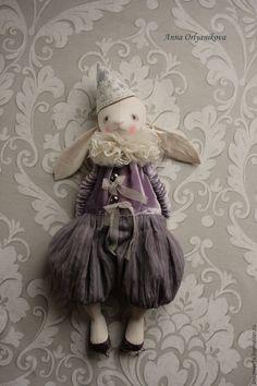 Купить Луи и Пенелопа - сиреневый, авторская ручная работа, авторская кукла, зайка, зайчик