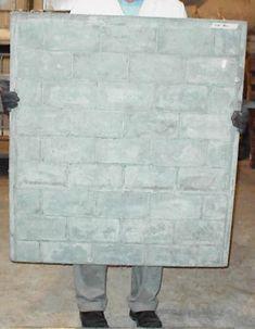 Foamed Concrete and Lightweight Concrete Use as a canvas? Concrete Furniture, Concrete Art, Concrete Projects, Concrete Blocks, Backyard Projects, Diy Projects, Styrofoam Art, Home Door Design, Concrete Retaining Walls
