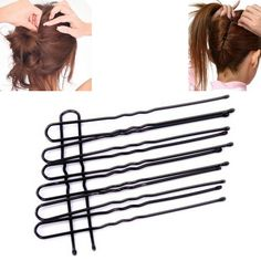 1 Pack 16/18/20 Unids Negro Chapado Thin U Shape Hair Styling Clips Barrette Horquillas de Metal accesorios 7/6/5 cm