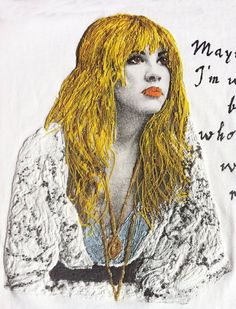 Stevie Nicks T-shirt of Fleetwood Mac painted 3d