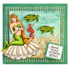 Stampendous Cling Mounted Rubber Stamps - Mermaid Friends Cling Rubber Stamp Set