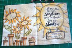 elvie studio: inspiration monday- love these wall journal pages Art Journal Pages, Art Pages, Art Journals, Altered Books, Altered Art, Round Robin, Sketch Note, Art Journal Inspiration, Journal Ideas