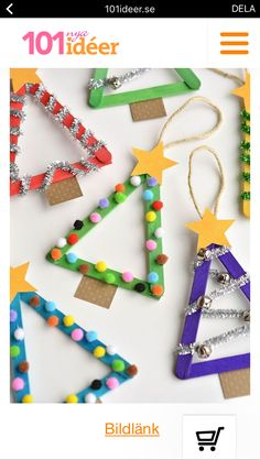 Easy Christmas Crafts For Kids- Christmas Craft Ideas For 2019 How can you keep the kids occupied during Christmas? Making Christmas crafts is the answer. Have a look at our round-up of Christmas crafts for kids below. Stick Christmas Tree, Diy Christmas Ornaments, Simple Christmas, Handmade Ornaments, Window Christmas Lights, Christmas Christmas, Diy Ornaments For Kids, Christmas Events, Snoopy Christmas