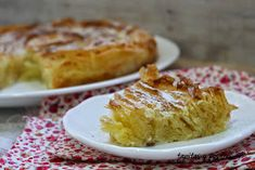 Tapitas y Postres: Ruffled milk pie. Scones, Macaroni And Cheese, French Toast, Food And Drink, Cooking Recipes, Pudding, Bread, Pasta Filo, Breakfast