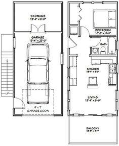 PDF house plans, garage plans, shed plans. Garage Apartment Plans, Garage House Plans, Garage Apartments, Small House Plans, Small Apartment Plans, Tiny House Layout, Tiny House Design, House Layouts, Small Basement Remodel