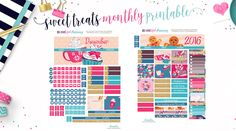Free Printable December Sweet Treats Planner Stickers – BEaYOUtiful Planning
