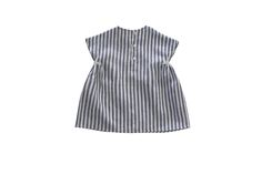 Image of Willa Dress in Blue Striped Linen