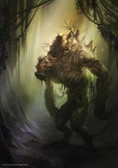 Forest Ogre Character Design by firecrow78