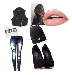 """""""Untitled #14"""" by alevsumer on Polyvore featuring Alexander Wang, Bebe, Giuseppe Zanotti and MICHAEL Michael Kors"""