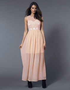 Why is the model wearing black boots???? more bridesmaid thoughts -Lipsy Beaded Detail Maxi Dress