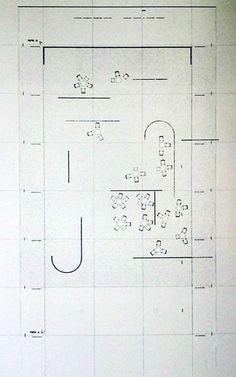 """Café Samt & Seide"" by Ludwig Mies van der Rohe and Lilly Reich (1927) Ludwig Mies Van Der Rohe, Colorful Interior Design, Colorful Interiors, Architecture Plan, Architecture Details, Illustration Essay, Art Essay, Architectural Association, Toyo Ito"