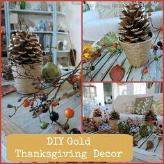 DIY Gold Thanksgiving Decor