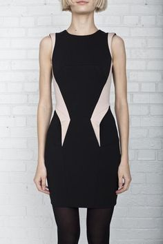 KRYSTOF STROZYNA, ANGULAR DETAIL DRESS: k. strozyna is exactly how i want roland mouret to be: 5% sluttier and 5% future-ier. basically. $1045