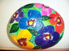 VIBRANT-HAND-PAINTED-ROCK-PANSIES