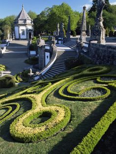 Bom Jesus Basilica Gardens, City of Braga, Minho Region, Portugal Photographic Print
