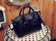Material: PU  Weight:800g  Size :34x23x15cm     Handle:9cm, Strap:120cm  Color: Ivory white, Orange, Black