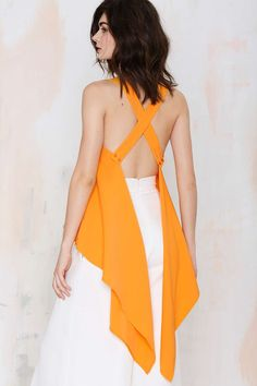 Asilio Channel Orange Asymmetric Top | Shop What's New at Nasty Gal