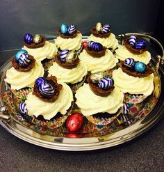 Easter cupcakes with chocolate nests