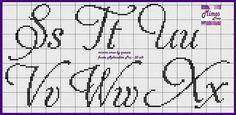 Cross Stitch Alphabet Patterns, Cross Stitch Charts, Stitch Patterns, Cross Stitch Numbers, Cross Stitch Letters, Cross Stitching, Cross Stitch Embroidery, Letras Abcd, Quiling Paper