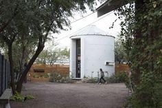 Grain silo converted into a home in Phoenix, Arizona